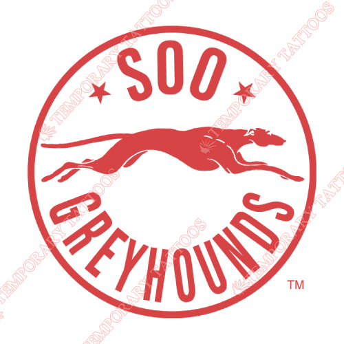 Sault Ste Marie Greyhounds Customize Temporary Tattoos Stickers NO.7394